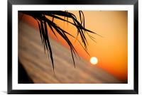 Sunset in Paphos Cyprus, Framed Mounted Print