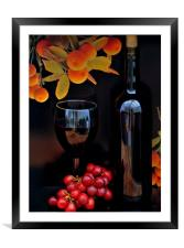 vino, Framed Mounted Print