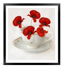 cup of poppy's, Framed Mounted Print
