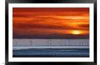 crosby sunset, Framed Mounted Print
