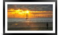 out to sea, Framed Mounted Print