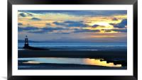 sunset at another place, Framed Mounted Print