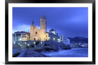 Sitges church, Framed Mounted Print