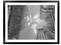 Lloyds Building London, Framed Mounted Print