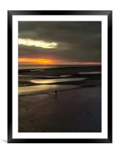 Alone At Worthing, Framed Mounted Print