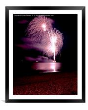 Fireworks out to sea, Framed Mounted Print