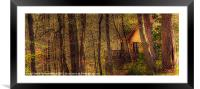 House in the Wood, Framed Mounted Print