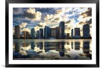 Miami at Dusk, Framed Mounted Print