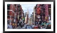 Little Italy, Framed Mounted Print