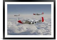 P51 Mustang - 334th Fighting Eagles, Framed Mounted Print