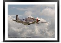 P51 Mustang - WW2 Classic Icon, Framed Mounted Print