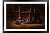 The Pipe Rack, Framed Mounted Print