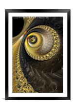 The Eye - A Fractal Abstract, Framed Mounted Print