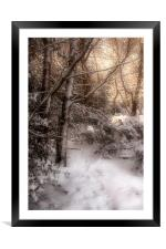 Footsteps in the Snow, Framed Mounted Print
