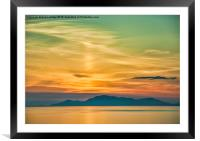 Sunset over The Isle of Harris, Framed Mounted Print
