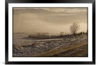 Winters Way - Scotland, Framed Mounted Print