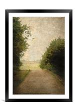 A Walk Up The Lane, Framed Mounted Print