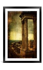 Dramatic Acropolis, Framed Mounted Print