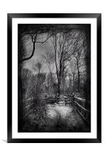 North Downs Way In The Snow, Framed Mounted Print