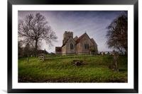 St Mary's Church Stone-In-Oxney, Framed Mounted Print