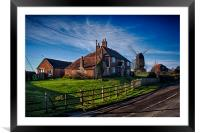 Mill House and Mill, Rolvenden, Framed Mounted Print
