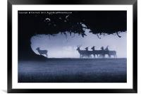 Follow the leader, Framed Mounted Print