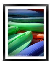 Stacked, Framed Mounted Print