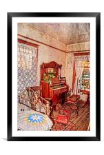 A Small House in Town, Framed Mounted Print