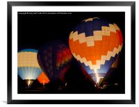 Lighting the Night, Framed Mounted Print