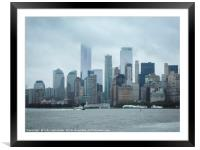 Downtown New York City, Framed Mounted Print