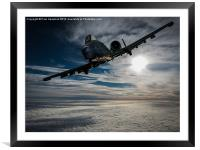 A-10 Thunderbolt II, Framed Mounted Print