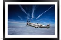 Supermarine Spitfire Fighter, Framed Mounted Print