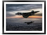 Avro Vulcan Formation, Framed Mounted Print