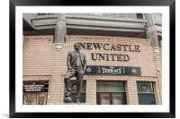 Sir Bobby Robson Statue In Newcastle, Framed Mounted Print