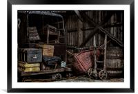 Railway Storage Shed, Framed Mounted Print