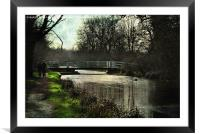 Late Afternoon By The Kennet, Framed Mounted Print