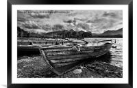 Boats at Derwentwater, Framed Mounted Print