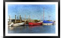 The Moorings, Framed Mounted Print