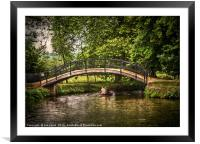 The River Isis At Oxford, Framed Mounted Print