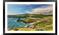 View Over Three Cliffs Bay, Framed Mounted Print