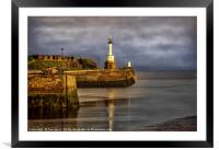 Early Morning At Maryport Harbour, Framed Mounted Print
