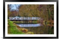 The Swing Bridge At Sulhamstead, Framed Mounted Print