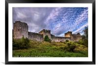 Chepstow Castle Walls, Framed Mounted Print