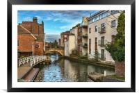 The Kennet And Avon In Newbury, Framed Mounted Print