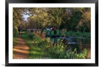 Traffic On The Kennet and Avon Canal, Framed Mounted Print