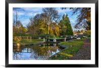 The Town Lock at Hungerford, Framed Mounted Print