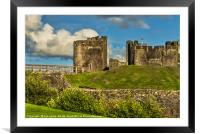 Western Gateway to Caerphilly Castle, Framed Mounted Print