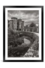 The Castle Moat, Framed Mounted Print