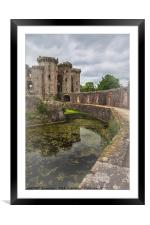 Pathway By The Castle Moat, Framed Mounted Print