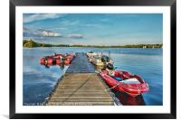 Landing Stage, Framed Mounted Print